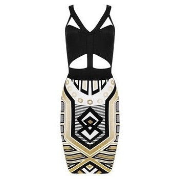 "MIDI BANDAGE DRESS - ""QUEEN CLEOPATRA"", Bandage  - Barbee Doll Boutique"