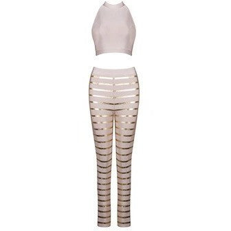 "2 PIECE BANDAGE JUMPSUIT - ""CHLOE"", Jumpsuits  - Barbee Doll Boutique"