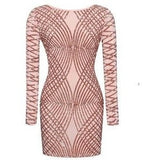 "MINI SPARKLE BANDAGE DRESS - ""GLITZ"", Bodysuit  - Barbee Doll Boutique"