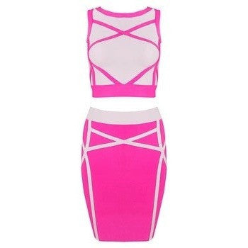 "2 PIECE MIDI BANDAGE DRESS - ""BARBEE DOLL"", 2 Piece  - Barbee Doll Boutique"