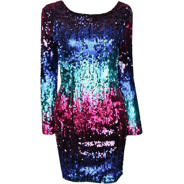 "SEQUIN MINI DRESS - ""BEDAZZLED"", Dress  - Barbee Doll Boutique"