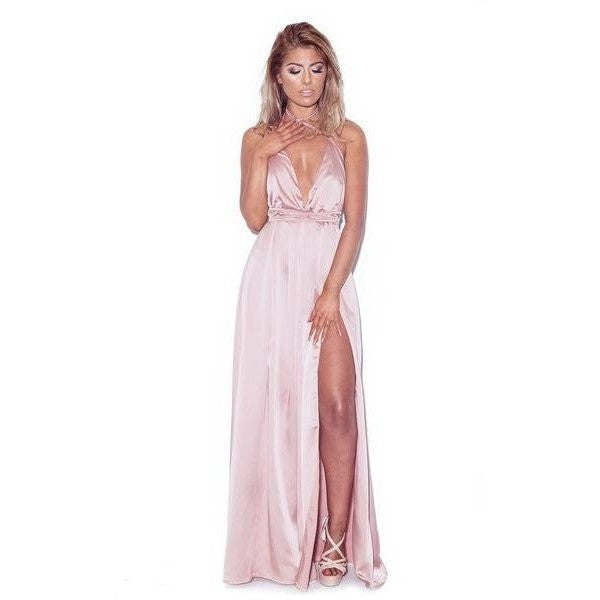 "SATIN MAXI DRESS - ""FAIRYTALE"", Dress  - Barbee Doll Boutique"
