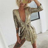 "SEQUIN MINI DRESS - ""GLITTER"", Dress  - Barbee Doll Boutique"