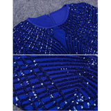 "MINI SPARKLE BANDAGE DRESS - ""SAPPHIRE QUEEN"", Bodysuit  - Barbee Doll Boutique"
