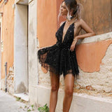 "FLOWY SEQUIN PLAYSUIT - ""LAVIGNE"", Playsuit  - Barbee Doll Boutique"