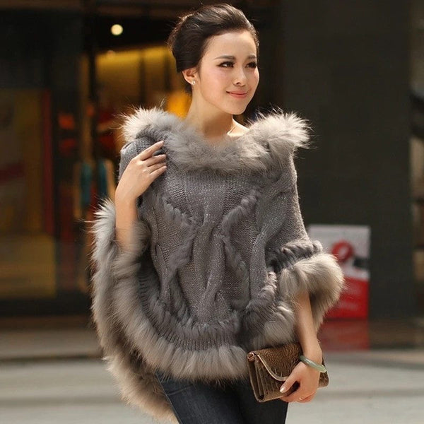 "FUR SHAWL - ""ALEXIA"", Jacket  - Barbee Doll Boutique"