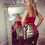 "STRAPLESS MINI BANDAGE DRESS - ""NUTCRACKER"", Bandage  - Barbee Doll Boutique"