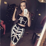 "2 PIECE MIDI BANDAGE DRESS - ""CROWN JEWEL"", 2 Piece  - Barbee Doll Boutique"