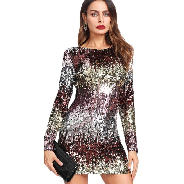 "MINI SEQUIN BODYCON PARTY DRESS - ""EDEN"", Dress  - Barbee Doll Boutique"