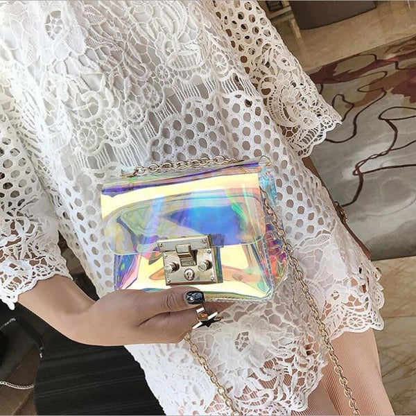 HARAJUKU HOLOGRAM CLUTCH PURSE - HARAJUKU DOLL, Accessories  - Barbee Doll Boutique