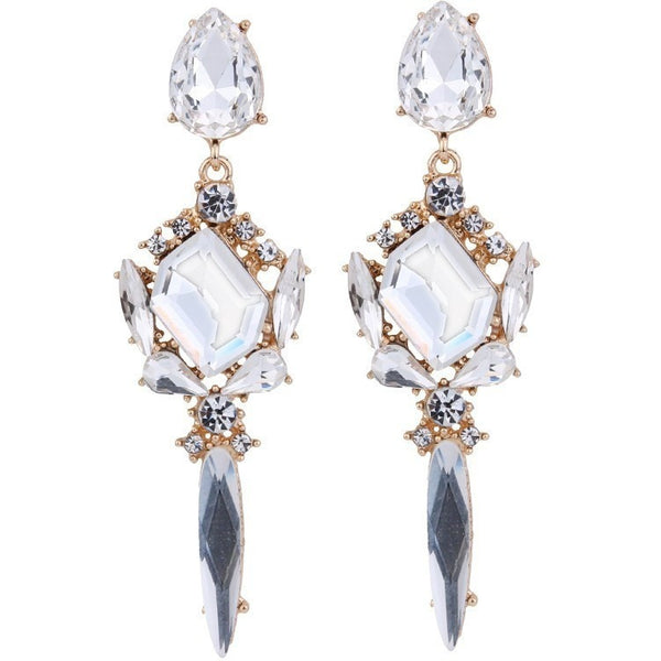 "CRYSTAL EARRINGS - ""BLUE PRINCESS"", Jewelry  - Barbee Doll Boutique"