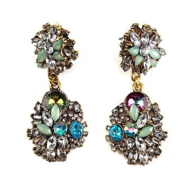 "CRYSTAL EARRINGS - ""ANTOINIA"", Jewelry  - Barbee Doll Boutique"