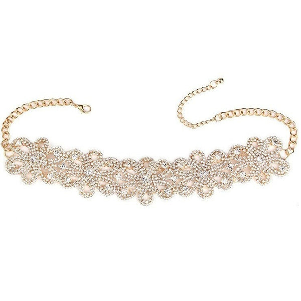 "RHINESTONE CHOKER NECKLACE - ""AJAYA"", Jewelry  - Barbee Doll Boutique"