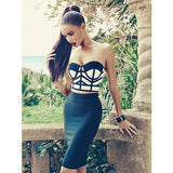 "2 PIECE MIDI BANDAGE DRESS - ""ENYA"", 2 Piece  - Barbee Doll Boutique"