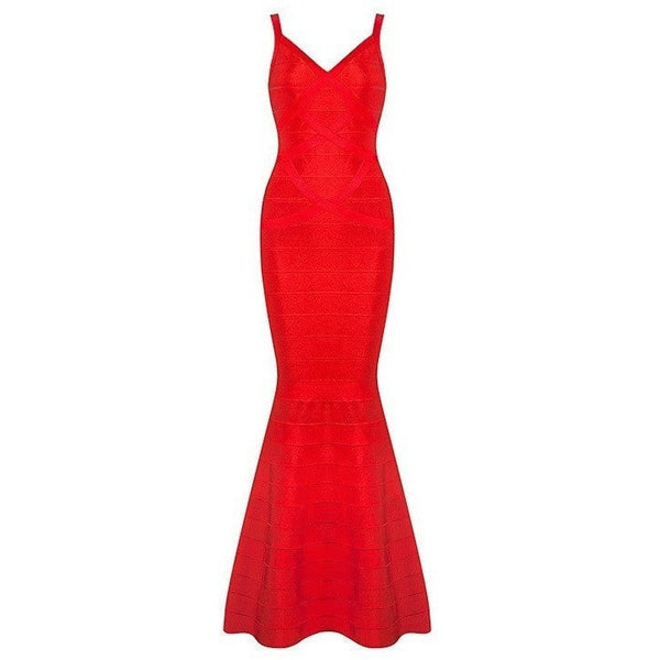 "MAXI BANDAGE EVENING DRESS - ""EASTON"", Bandage  - Barbee Doll Boutique"