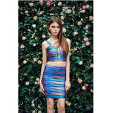 "2 PIECE MIDI BANDAGE DRESS - ""TOXIC"", 2 Piece  - Barbee Doll Boutique"