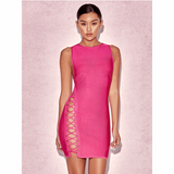 "MIDI LACE-UP BANDAGE DRESS - JASMINE"", Bandage  - Barbee Doll Boutique"
