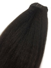 Indian remy kinky straight on wefts