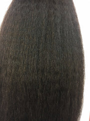 Indian remy kinky straight close up