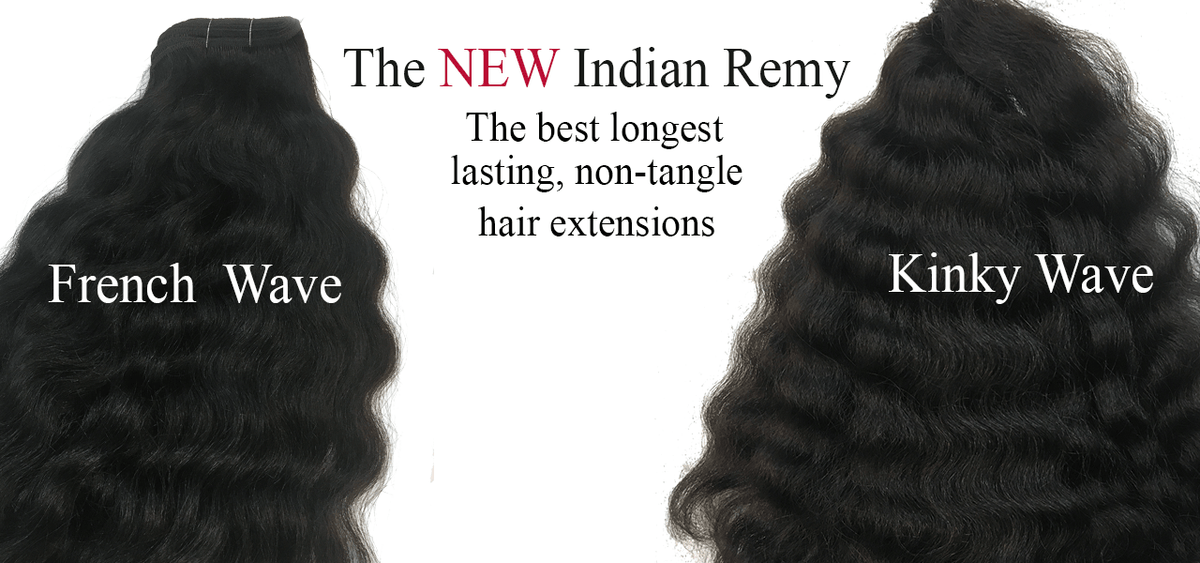 Indian Remy kinky Wave Hair Extensions