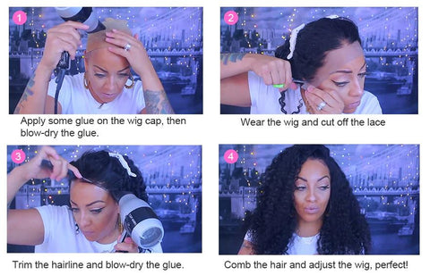 how to wear a wig