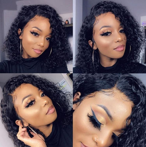 13x4 lace frontal curly short wig