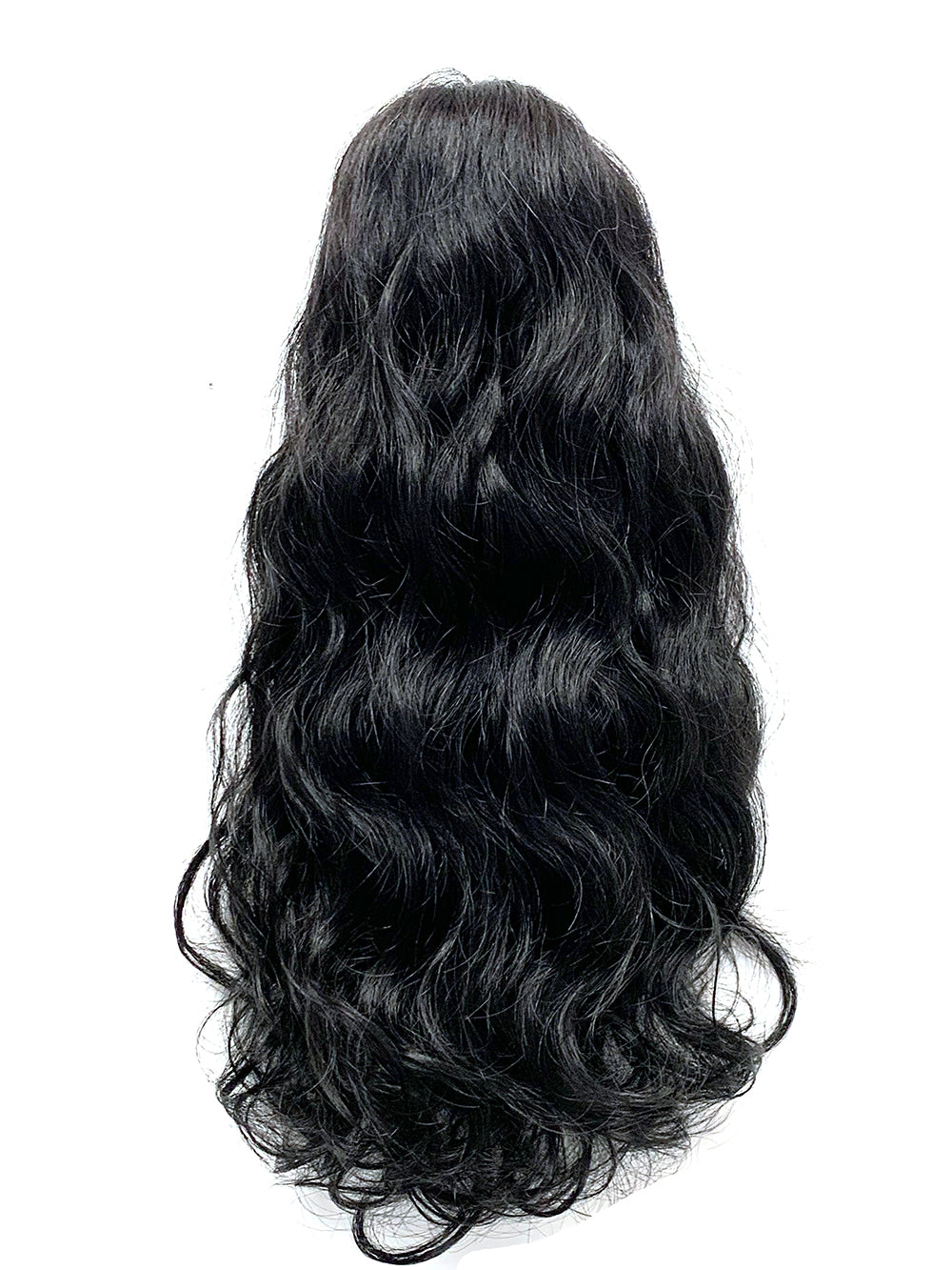 Draw String Ponytail- 100% Human Hair Deep Bodywave 14""