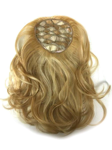 "Custom Honey Comb Base Topper with Straight 14"" Color#18/22 - Hairesthetic"