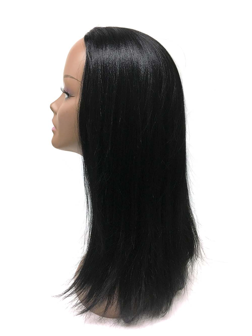"Half Wig 100% Human Hair in Yaki Straight 14"" - Hairesthetic"