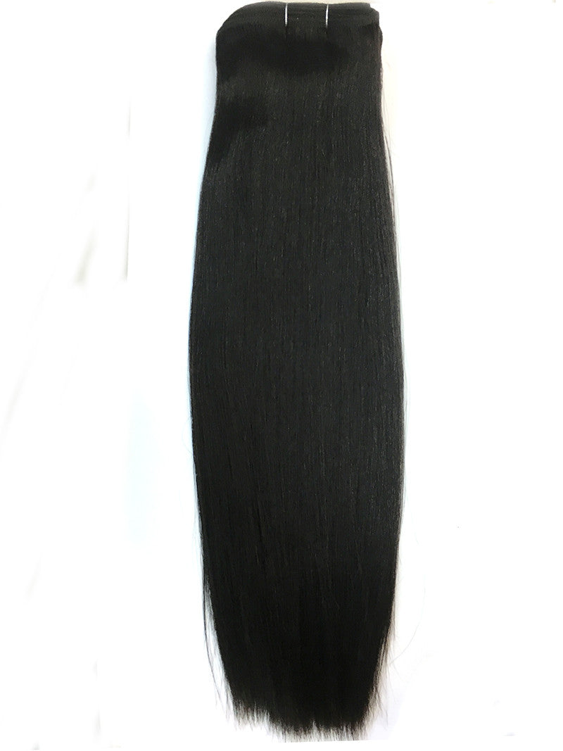 Indian Remy Yaki Straight Human Hair Extensions - Wefted Hair - Hairesthetic