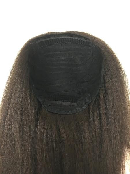 "Cuticle Grade - Half Wig 100% Human Hair in Kinky Straight 18"", Color #3 - Hairesthetic"