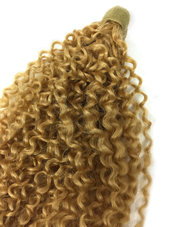 Wrap Around 100% Human Hair Ponytail in Kinky Tight Wave 18""
