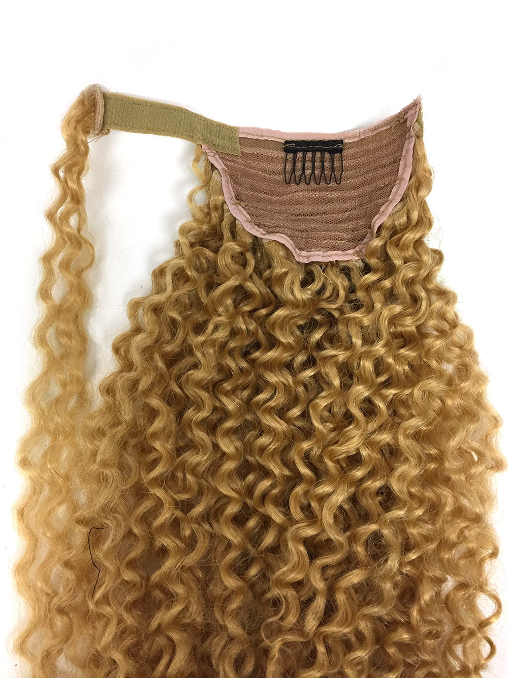 "Wrap Around 100% Human Hair Ponytail in Kinky Tight Wave 14"" - Hairesthetic"