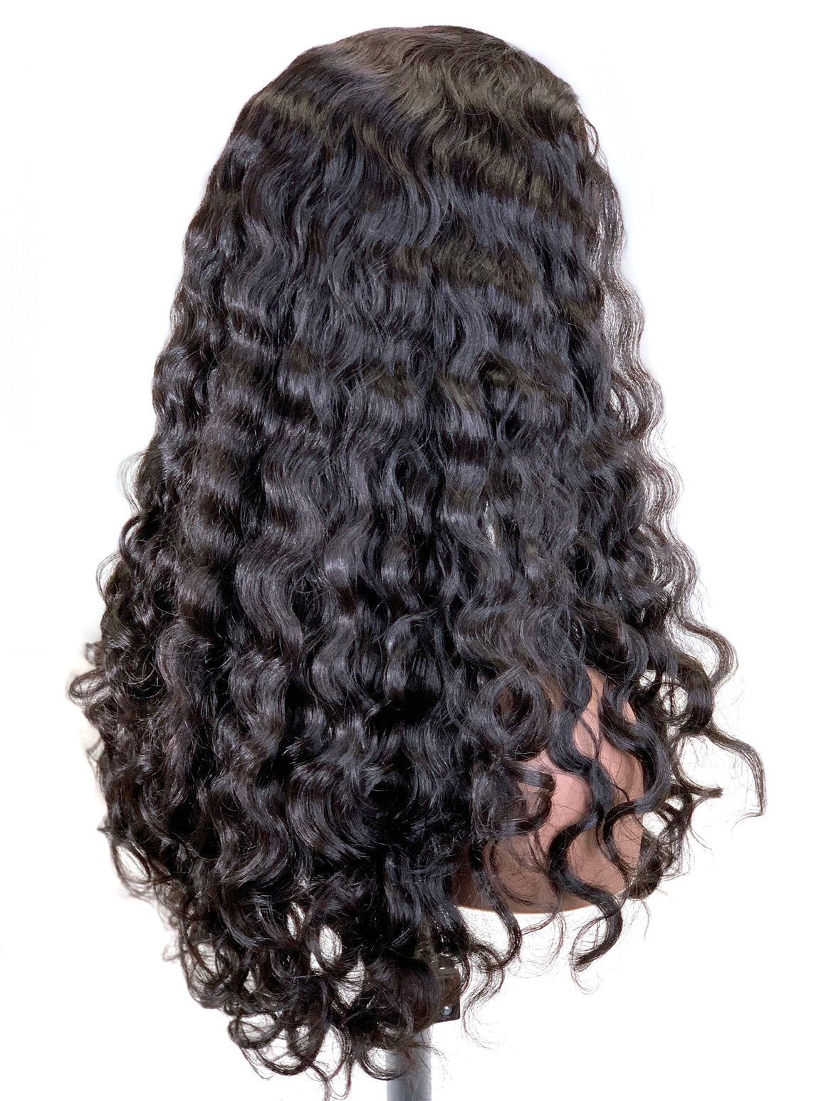 Half Wig 100% Human Hair in French Wave 18""