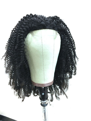 Customized Kinky Curly Wig for Client - Hair Provided by Client - Hairesthetic