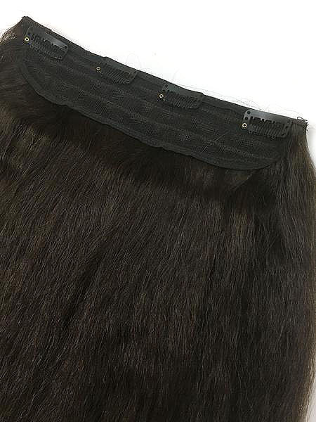 Full Head Single Clip In Extensions in Kinky Straight 18""