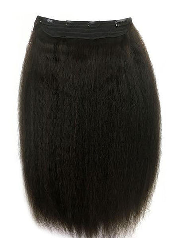 "Full Head Single Clip In Extensions in Kinky Straight 12"" - Hairesthetic"