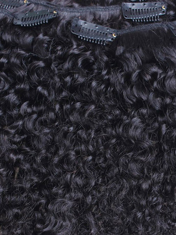 "Clip on Human Hair in Kinky Curly 18"" - Hairesthetic"