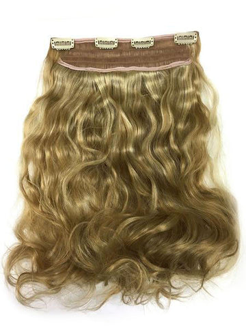 "Full Head Single Clip In Extensions in Bodywave 12"" - Hairesthetic"