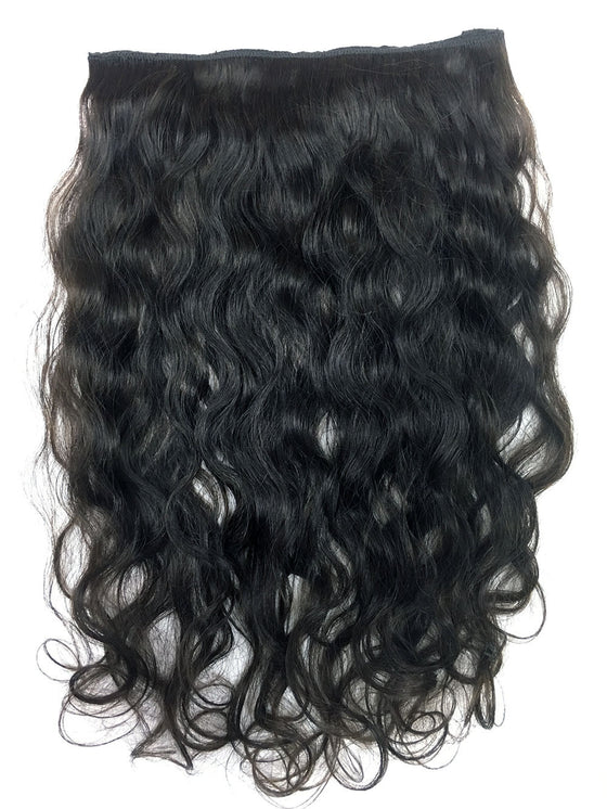 Full Head Single Clip In Extensions in Deep Bodywave 14""