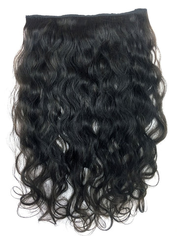 "Full Head Single Clip In Extensions in Deep Bodywave 14"" - Hairesthetic"