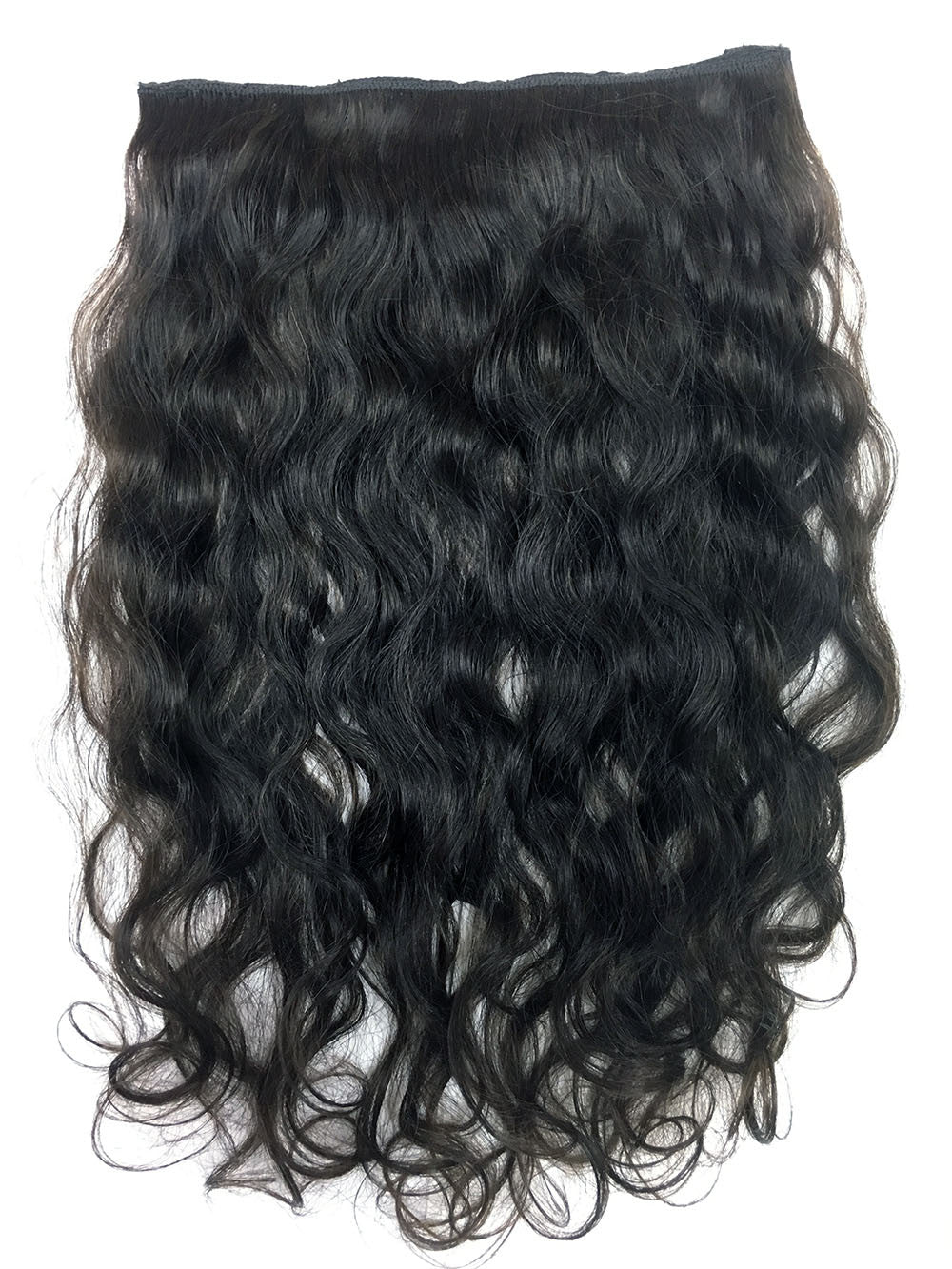 Full Head Single Clip In Extensions in Deep Bodywave 18""