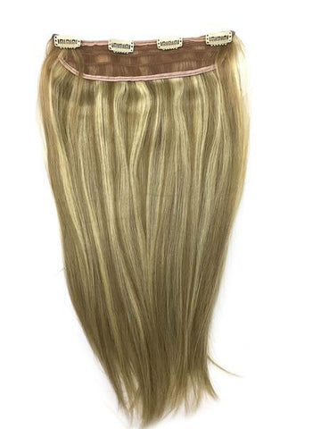 "Full Head Single Clip In Extensions in Straight 18"" - Hairesthetic"