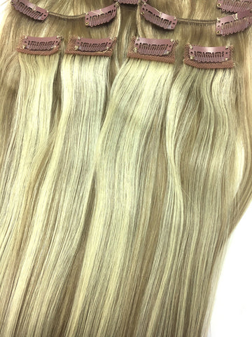 "Clip on Human Hair in Straight 18"" - Hairesthetic"
