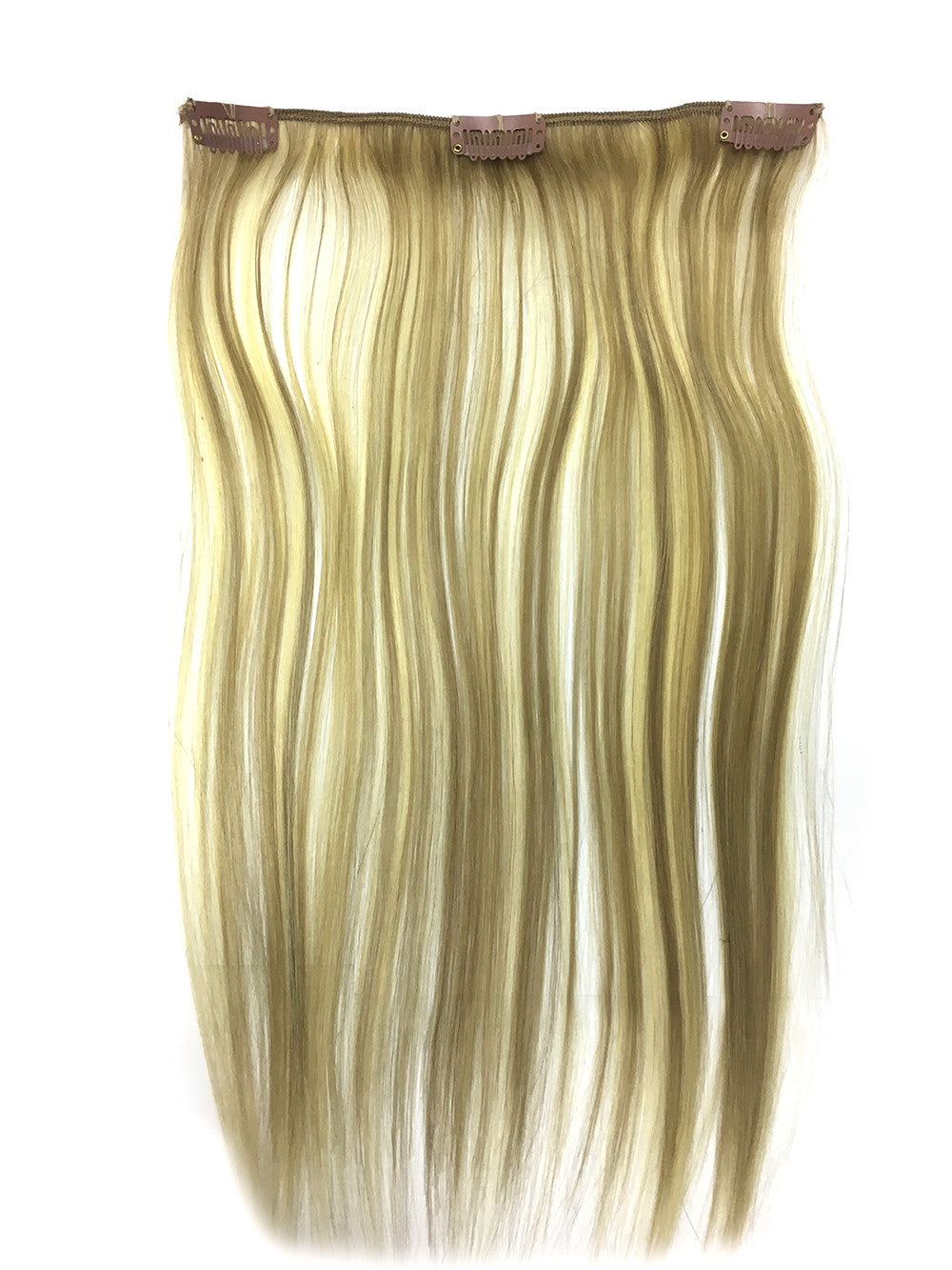 "Clip on Human Hair in Straight 22"" - Hairesthetic"