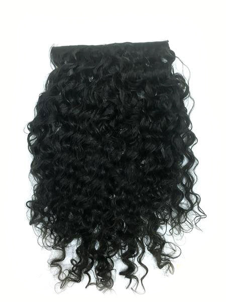 "Custom Clip on Human Hair in Brazilian Curly 14"" - Hairesthetic"