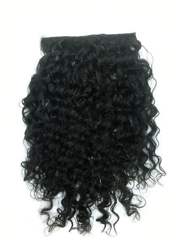 "Clip on Human Hair in Brazilian Curly 12"" - Hairesthetic"