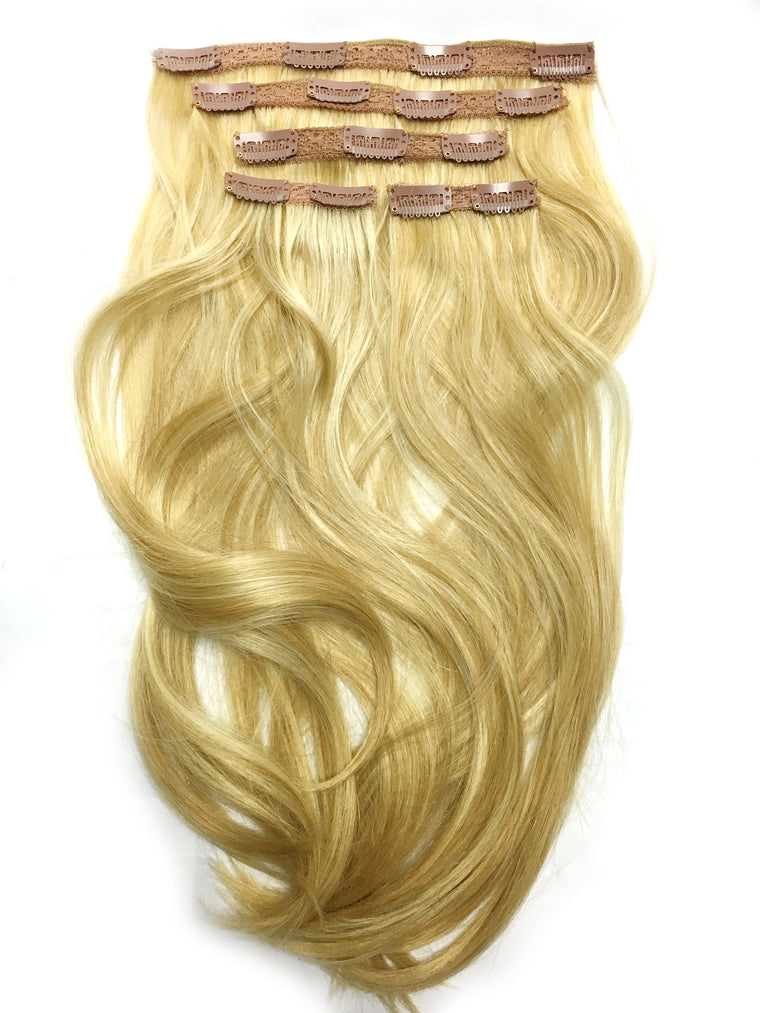 Indian Remy Bodywave Clip on Hair 18""
