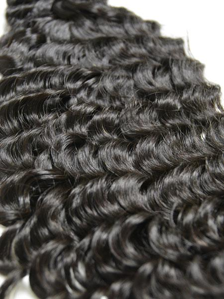 "Custom Clip on Human Hair in Indian Remy Deep Wave 18"" - Hairesthetic"