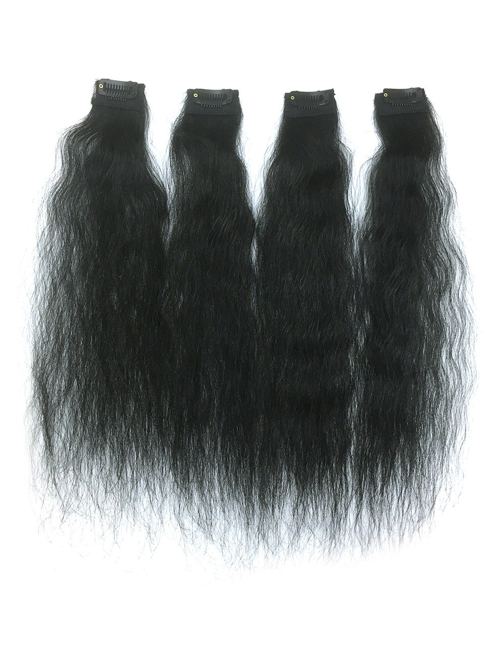 "Clip on Human Hair in Kinky Wavy 18"" - Hairesthetic"
